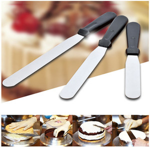 6 polegadas 8 polegadas de 10 polegadas de aço inoxidável bolo Espátula Baking Tools Buttercream geada Espátula suave Kitchen Bolo facas DH1366 T03