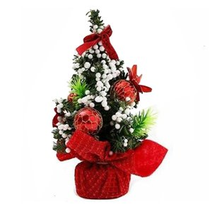 22 * 11см Mini Christmas Tree Таблица декор ПВХ Малых партии украшение украшение Xmas