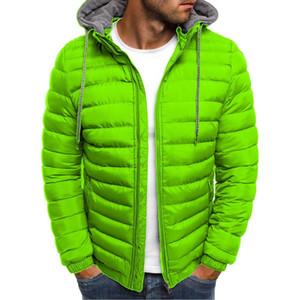 2019 için Zogaa Kış Ceket Erkekler Kapşonlu Coat Nedensel Fermuar Erkekler Ceketler Parka Sıcak Giysiler Erkek Streetwear Giyim