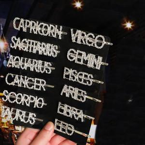 كليب حجر الراين 12 كوكبة شعر النساء كريستال دبوس الماس رسائل المشابك الأزياء الدوي كليب امرأة الشعر الانضمام