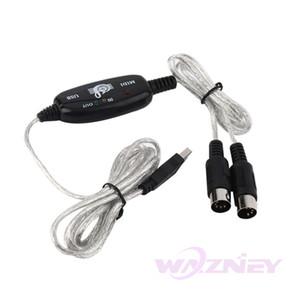 100set / lot جديد 2M USB IN-OUT MIDI كابل واجهة محول PC لوحة المفاتيح الموسيقى الحبل محول الشحن مجانا الجملة