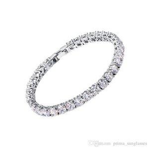 2018 Zircons Bridesmaids Luxury CZ Crystal Jewelry Brilliant 6mm Big Round Cut Cubic Zircon Tennis Bracelet For Women