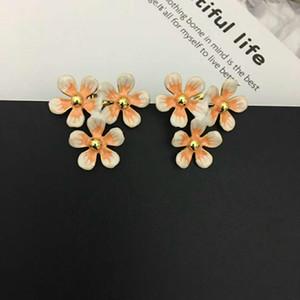 New Arrivals luxury designer women earrings enamel flowers earrings for women fashion party jewelry free shipping