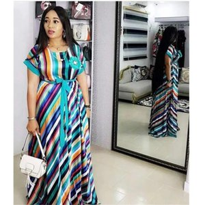 African Dresses For Women African Long Maxi Dresses For Lady Dashiki Dress Bazin Riche Traditional Clothing Short Sleeve