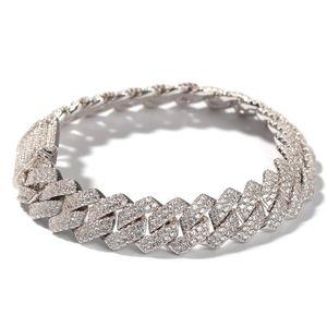 Luxus-Armband beste Qualität Hip-Hop-voller Diamant-Armband-Mikro Zirkonia Männer Schmuck Kupfer Plating18k Gold-Mode für Männer Set Diamant