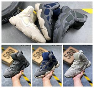 2020 Kanye West 500 High Top Slate Os Blanc Pierre 500 Désert Rat Noir Femmes Hommes Sports hautes chaussures de sport en plein air