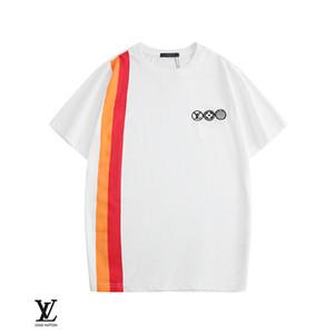 2202New concepteur Hommes T-shirts ange de palme T luxe hommes manches chauve-souris et les femmes surdimensionner manches lâche coude col rond T-shirt