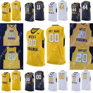NCAA West Virginia Mountaineers pallacanestro Jersey 5 McCabe 34 Oscar Tshiebwe Derek Culver Emmitt Matthews Jr. 44 Jerry West Da'Sean Butler