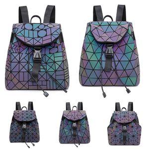 2020 New Hot Sale Women Designer Backpack Laser Messenger Shoulder Bags Chain Bag Good Quality Pu Luminous Ladies Handbag #536