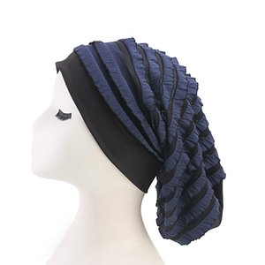 New Woman Turban Hat Elastic Cloth Dreadlock Hat Beanie Ladies Hair Accessories India Hat Scarf Cap Hair Loss Head Scarf Wrap