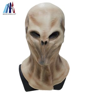 Predator İskelet cosplay insan erkek tam kafa lateks maske UFO ET Karnaval Kostüm Partisi Cosplay Elbise maskeleri