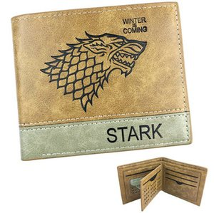 Stark wallet Game of Thrones note purse The north house short leather cash note case Money notecase Change burse bag Card holders