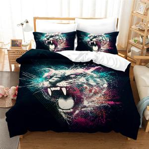 3D-Druck Leopard Bettbezug-Set Bettwäsche-Sets Bettbezug und King-Size-Tier Tröster Set Bettwäsche 3pcs pillowcase