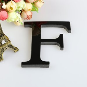 15CM Letters Name 3D Mirror Wall Stickers Alphabet Wedding Love Letters English Home Decor Logo For Wall Black Gold Silver F112