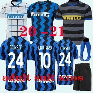 Adult suit 20 21 LUKAKU ALEXIS camisa de futebol Inter Milan Milão 2020 2021 LAUTARO SKRINIAR 19 20 inter milan adult suit KIDS jersey
