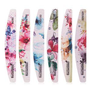 Профессиональная полировка пилочка для ногтей Nail Art Tools цветок печатных ногтей буферный блок грит моющийся файл ногтей маникюрный набор RRA1722