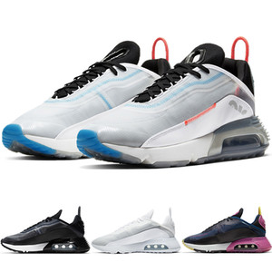 2090 лето React ультратонкая Сетка дышащая мужская кроссовки черный белый женщины подушка кроссовки чистая платина мужская спортивная обувь CT7695-100