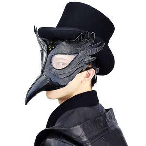 Máscaras de Halloween Látex pico pájaro de pico largo de Steampunk Edad Media la peste máscara cosplay del partido de Cosplay de la serie Complementos Disfraz
