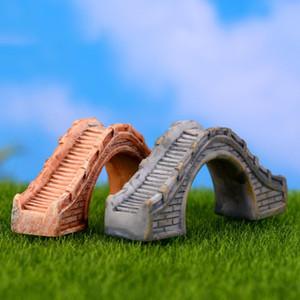 Résine Figurines Mini Pont Résine Artisanat Fée Jardin Miniatures Bricolage Terrarium Succulentes Miniatures Micro Paysage Décoration