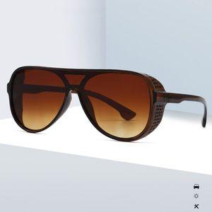2020 Lente Gradient New Oversize Integrated Lens Óculos Mulheres Sunglasses Vintage Shades vidros de sol UV400 6 cores