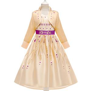الأطفال Girils ملكة الثلج II تأثيري يتوهم فساتين الأميرة جدي Cosplay زي لاللباس عيد الميلاد هالوين الجزء ملابس أطفال M1105