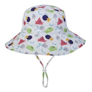 2020 Nuova Primavera Estate Autunno Bambini Ragazzi Ragazze Sun Hat Anti-UV Swim Hat bambini Flap protezione solare per il bambino 6month-5years