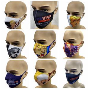 Trump Masque Élection américaine Masques Anti-poussière impression 3D anti-poussière Bouche couverture pour Hommes Femmes USA Outdoor Masque Designer GGA3344-2