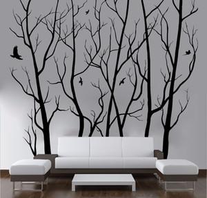 D446 Grande Wall Art Decor Vinyl Tree Forest Decal Adesivo (escolher o tamanho e cor) adesivo de parede árvore arte mural de parede decoração CJ191213