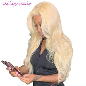 A 13x4 Blond Lace Front Wig Brazilian Body Wave 613 Blond Lace Front Wig Human Hair Pre Plucked