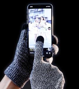 Новые Женщины Мужчины Вязание Емкостный сенсорный экран зимние Перчатки Теплые Перчатки Сплошной Цвет Теплые Смартфоны Перчатки luvas женские Рождественские Подарки