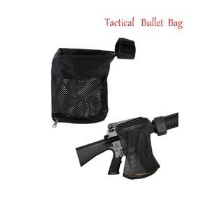 Tactical bullet bag AR-15 Ammo Brass Shell Catcher Mesh Trap Cierre con cremallera para descarga rápida Nylon Mesh Negro Envío gratis