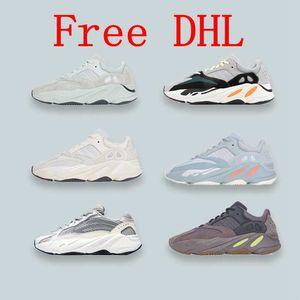 DHL gratis con la caja Inercia Geode Mauve 700 Zapatos deportivos de bowling Wave Runner Hombre Mujer Zapatillas de deporte de diseño New 700 V2 Static salt West