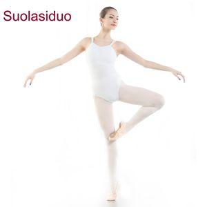 Adulte Ballet De Danse Justaucorps De Gymnastique Costumes Double Bandoulière Pratique Body Suit Justaucorps De Danse Vêtements De Yoga