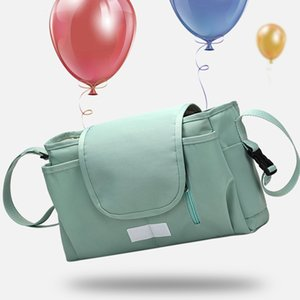 Portable Nursing Diaper Pocket Large Capacity Accessories Cup Holders Hanging Baby Stroller Organizer Basket Storage Bag Travel