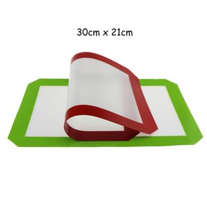 Non-Stick Silicone Dab Mats For Wax 30cm x 21cm (11.81 x 8.27 inch) Silicone Baking Mat Dab Oil Bake Dry Herb