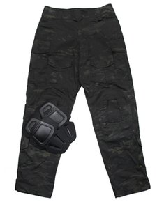 Black Multicam EMERSON CP Gen3 style Tactical Pants with Pad set for airsoft outdoor military pants Hunting