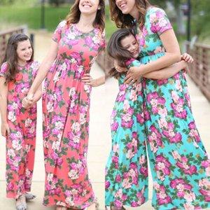 USA Mother Daughter Boho floreale maxi Family Dress corrispondenza Dress Sundress