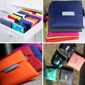 Armazenamento sacos de compras Bolsa de compras amigável sacola reutilizável Grocery Grande Eco YP152 35 * 55cm Bolsas Bag Dobrável Bolsa de compras de armazenamento Ox Nave