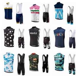 NUOVO Morvelo ciclismo senza maniche in jersey maglia Salopette set comodi degli uomini di estate del hight MTB qualità sportwear S62602