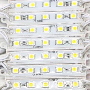 1000pcs / lot DC12V 5050 5 Led Module lighting DC12V Water Against led modules 20PCS per string White Warm white