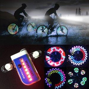 14 LED Moto Vélo Vélo roue de vélo Signal pneus Spoke Light 30 changements accessoires vélo Livraison gratuite