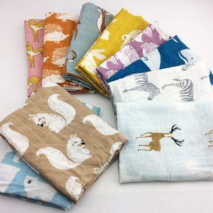 novo bebê Algodão cobertores recém-nascido macio Organic Baby Cotton Blanket Muslin gavetas Enrole alimentação arroto pano toalha Scarf Material do bebê