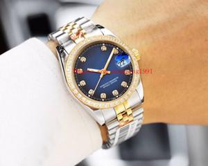 9 색 고품질 대통령 datejust 시계 36mm 126233 116234 116234 116234 116234 126334 다이아몬드 베젤 그라데이션 블루 Neutra 자동 Wwatches