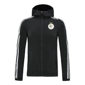 2020 алжир молния с капюшоном Куртки ветровки пальто футбола футбол длинного рукавом курткой Спортивной зимой ветровка балахон куртка мужской