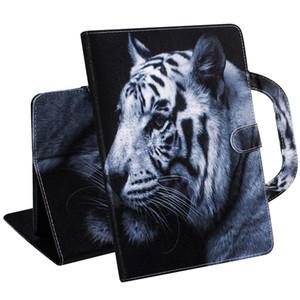 Чехол для планшета Amazon Kindle Paperwhite 1 2 3 4 Ручка откидная крышка подставка кожаный кошелек цветной рисунок тигр лев волк коке