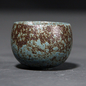 Grobe Keramik Retro Teetasse Zen Vintage-Single Master-Becher Japanische Keramik Tassen Kung Fu Tea Cups Teezeremonie Trinkgefäße