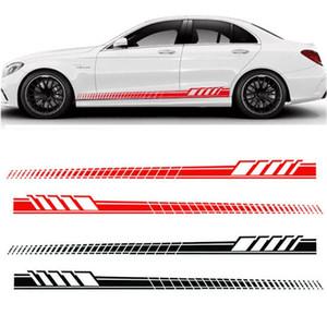 السيارات السيارات الخصر الجانب تنورة الديكور ملصقات AMG Edition سباق شريط جانبي جينلاند جاردلاند لمرسيدس بنز C فئة GGA1733