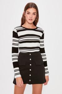 Trendyol Black Mini Knitted Skirt TWOAW20ET0257
