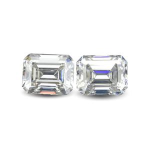Emerald Cut Retângulo Lab verdadeiro diamante Moissanite pedra colorida D clareza VVS com um certificado para o anel, colar, relógio, Etc.