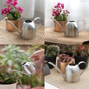 الفولاذ المقاوم للصدأ سقي غلاية البستنة بوعاء النباتات الصغيرة مقياس المياه الزهور الغلايات داخلي طويل الفم الرشاشات الإبداعية 35sh l1